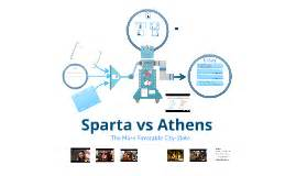 Comparison of Athens and Sparta essays